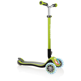 Globber Elite Prime Løbehjul with battery-free LED wheels flash Børn, green